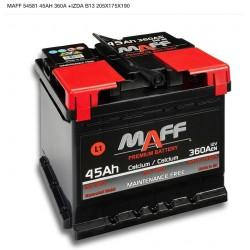 Batería MAFF 45Ah 360A  (+ izquierda)