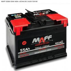 Batería MAFF 55Ah 460A (+Dcha)