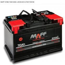 Batería MAFF 70Ah 600A (+Dcha)