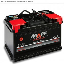 Bateria MAFF 75Ah 720A (+Izq)