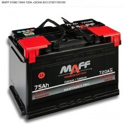Bateria MAFF 75Ah 720A (+Dcha)