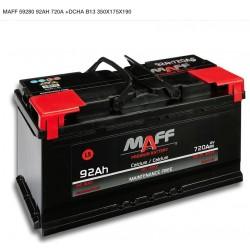 Batería MAFF 92 Ah 720A (+Dcha)