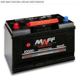 Bateria MAFF 100Ah 680A ((+Izq)