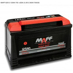 Batería MAFF 125Ah 750A (+Izq) CAMIÓN