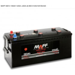Batería MAFF 190Ah 1200A (+Izq)